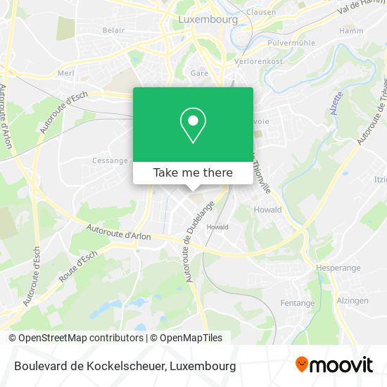 Boulevard de Kockelscheuer map