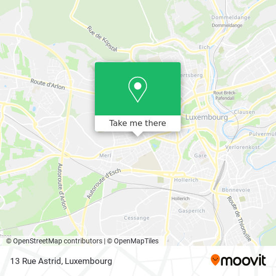13 Rue Astrid map