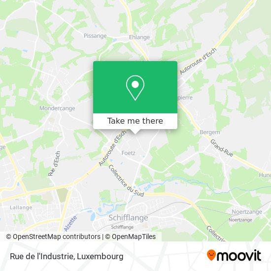 Rue de l'Industrie map