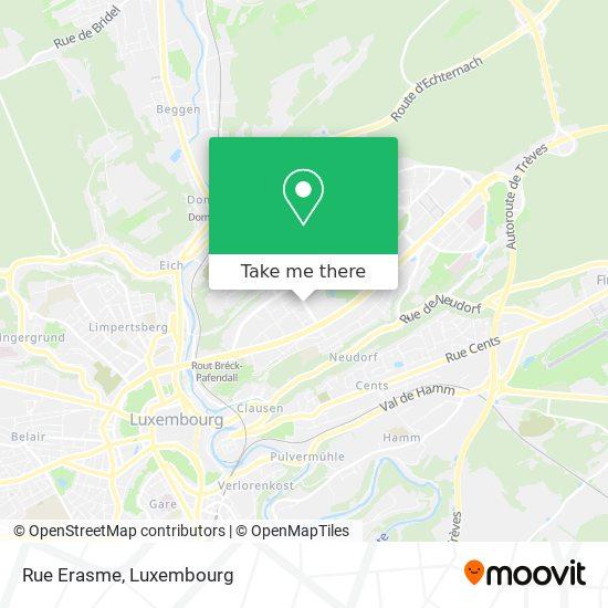 Rue Erasme map