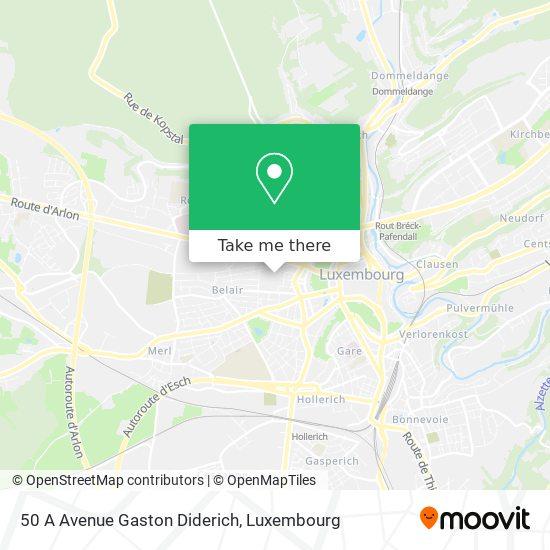 50 A Avenue Gaston Diderich map