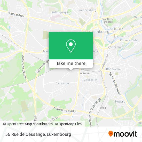 56 Rue de Cessange map