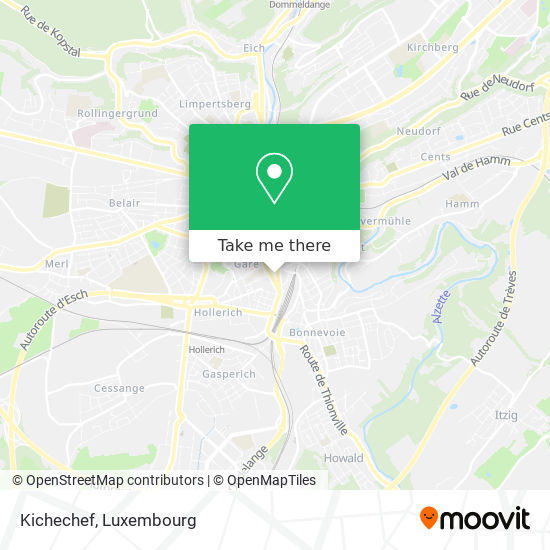 Kichechef map