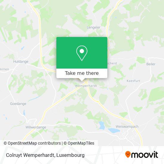 Colruyt Wemperhardt map