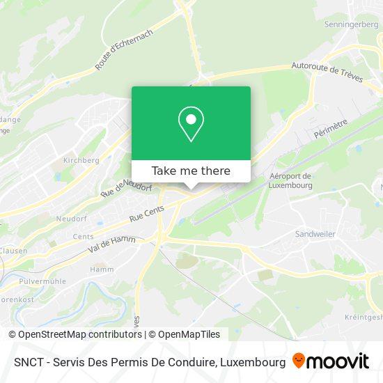 SNCT - Servis Des Permis De Conduire map