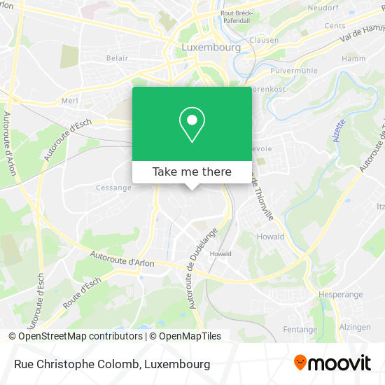 Rue Christophe Colomb map