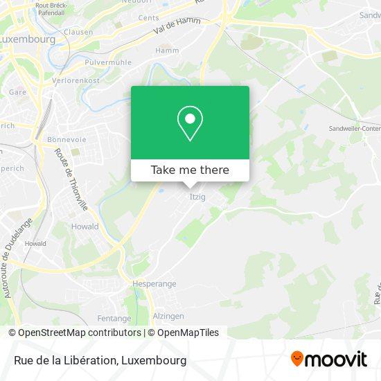 Rue de la Libération map