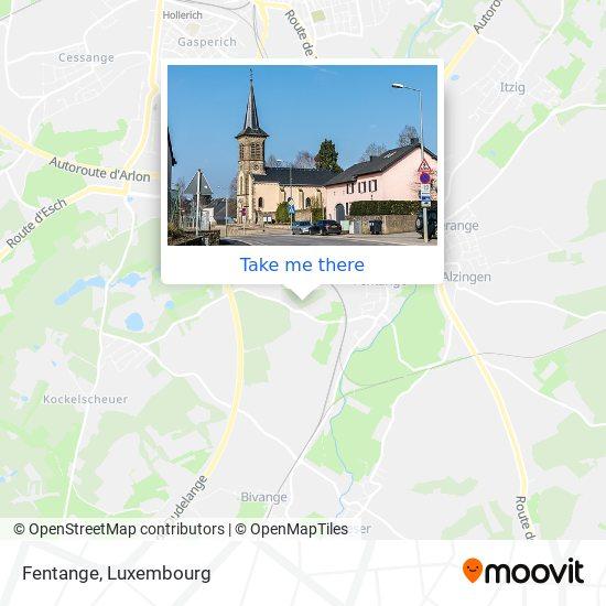 Fentange map