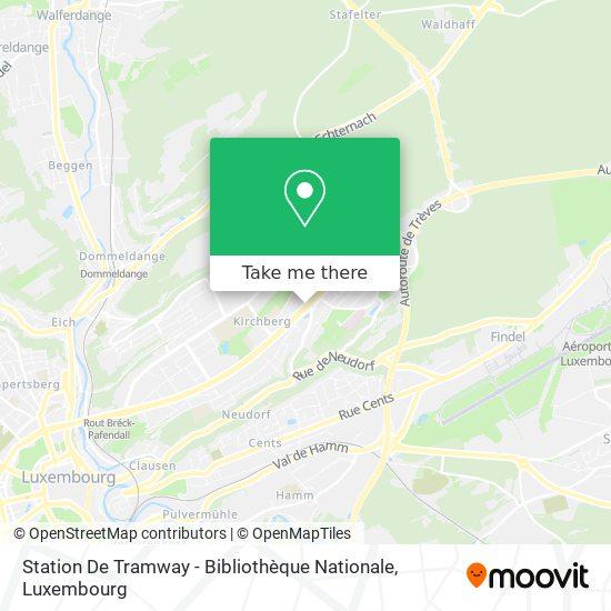Station De Tramway - Bibliothèque Nationale map