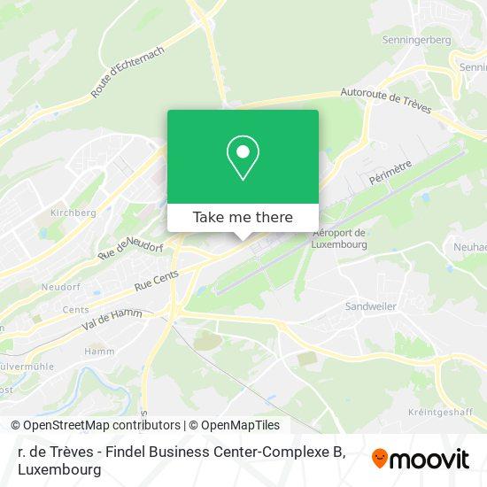 r. de Trèves - Findel Business Center-Complexe B map
