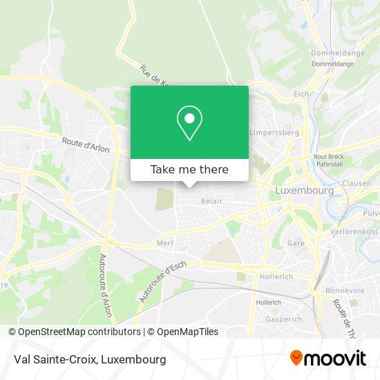 Val Sainte-Croix map