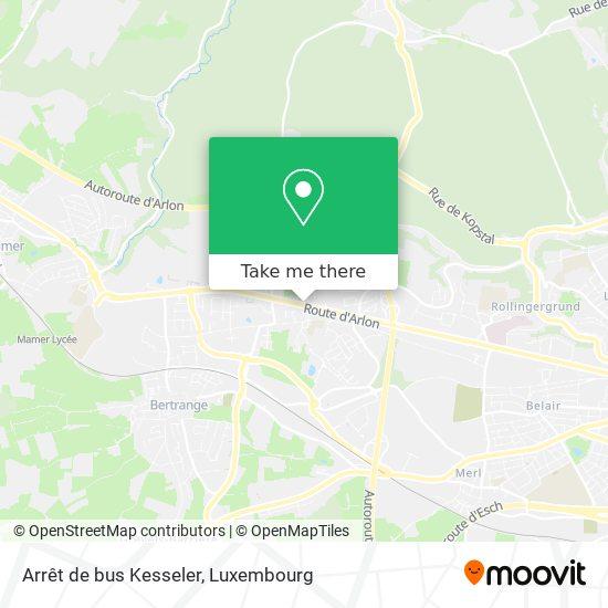 Arrêt de bus Kesseler map