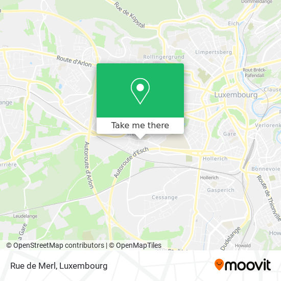 Rue de Merl map