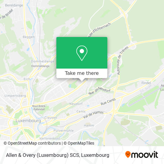 Allen & Overy (Luxembourg) SCS map