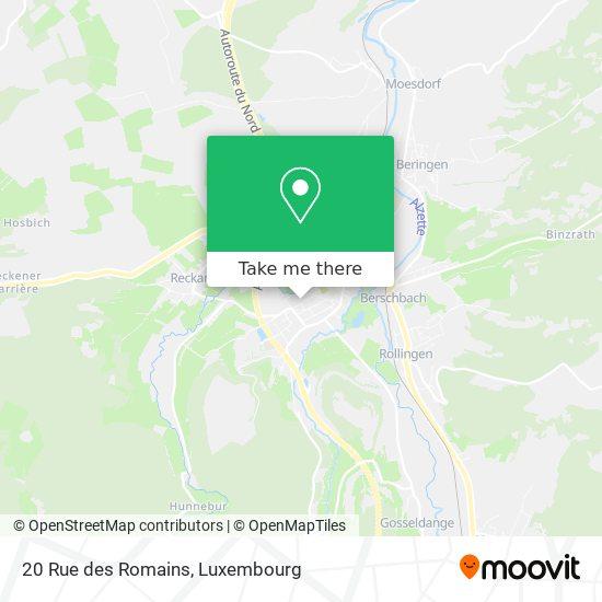 20 Rue des Romains map