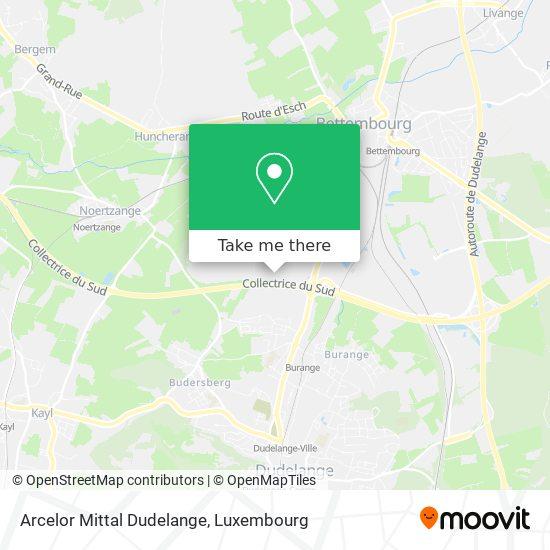 Arcelor Mittal Dudelange map