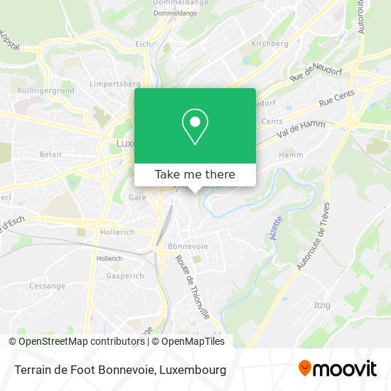 Terrain de Foot Bonnevoie map