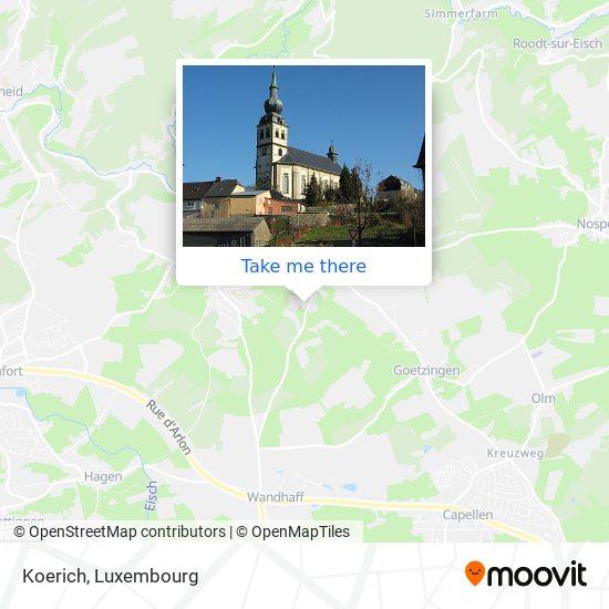 Koerich map