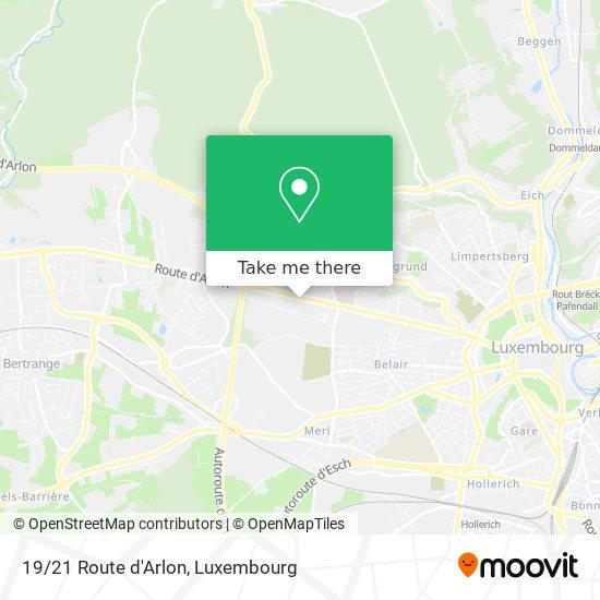 19/21 Route d'Arlon map