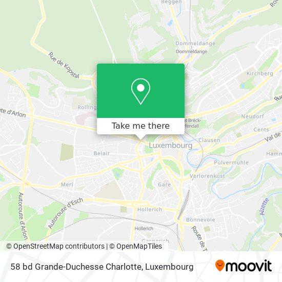 58 bd Grande-Duchesse Charlotte map
