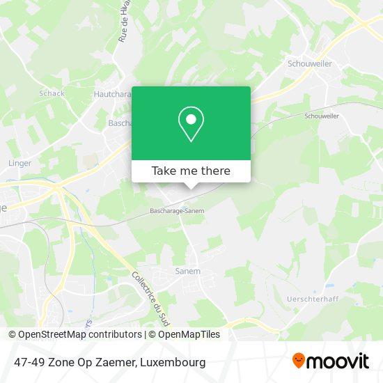 47-49 Zone Op Zaemer map