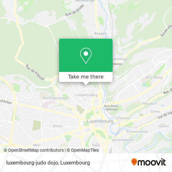 luxembourg-judo dojo map