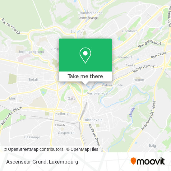 Ascenseur Grund map