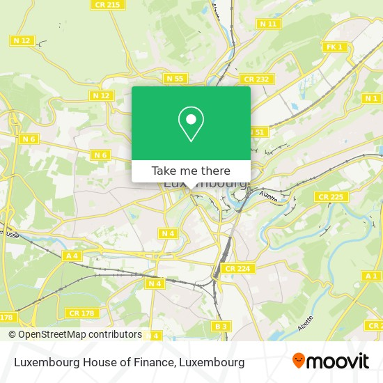 Luxembourg House of Finance map