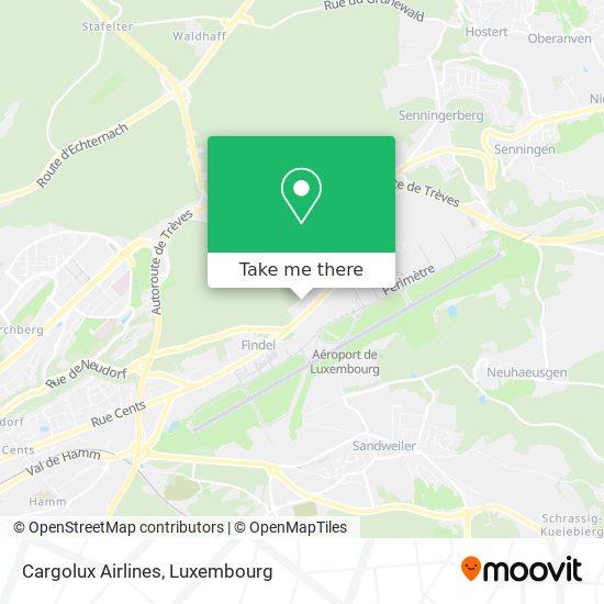 Cargolux Airlines map