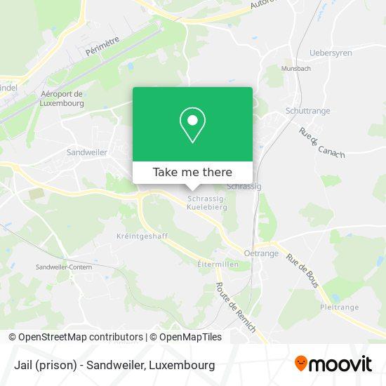 Jail (prison) - Sandweiler map