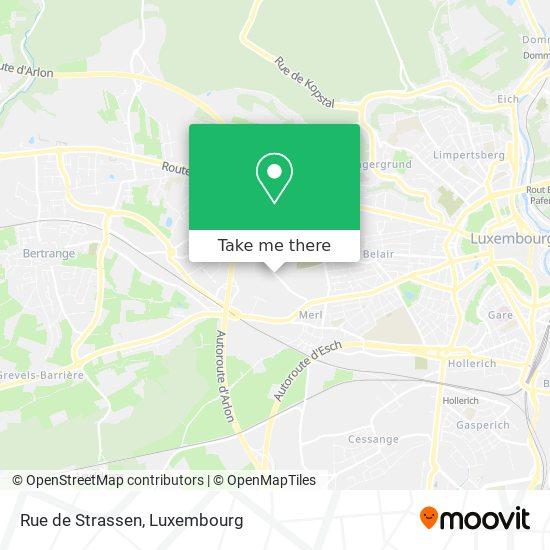 Rue de Strassen mapa