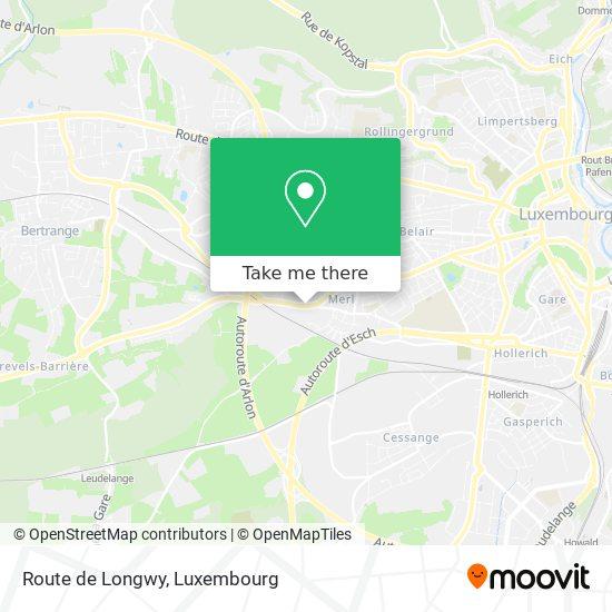 Route de Longwy mapa