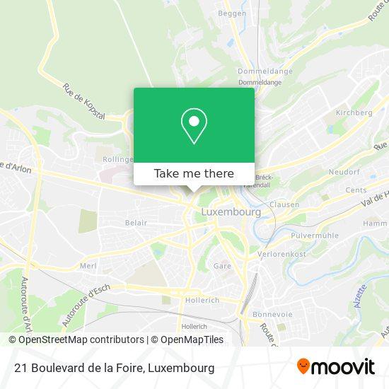 21 Boulevard de la Foire map