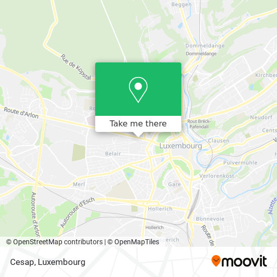 Cesap map