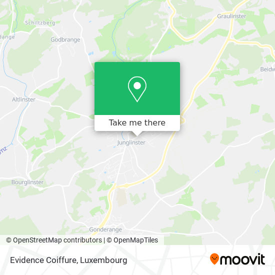Evidence Coiffure map