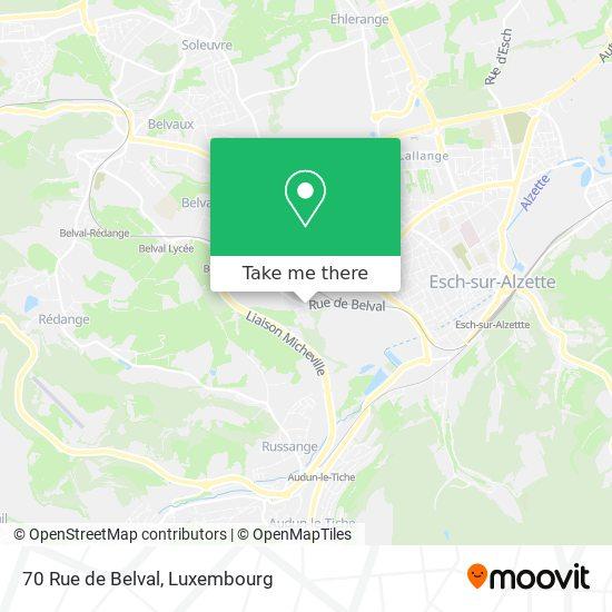 70 Rue de Belval map