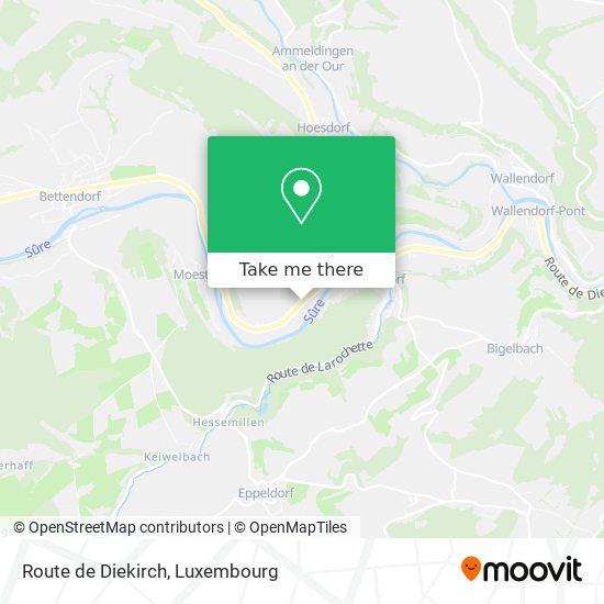 Route de Diekirch map