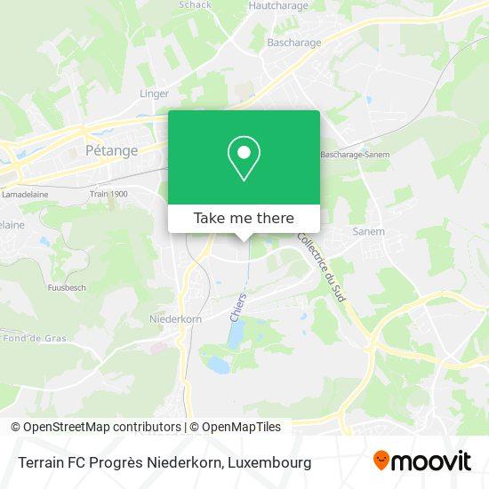 Terrain FC Progrès Niederkorn map