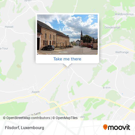 Filsdorf map