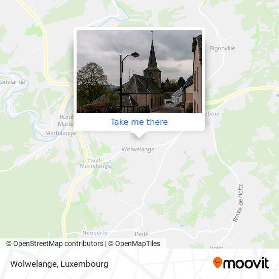 Wolwelange map