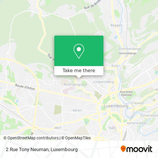 2 Rue Tony Neuman map