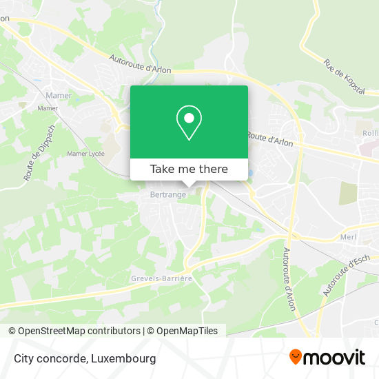 City concorde map