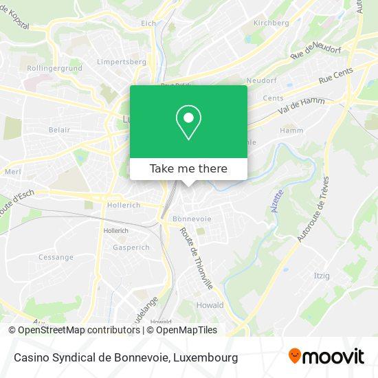 Casino Syndical de Bonnevoie map