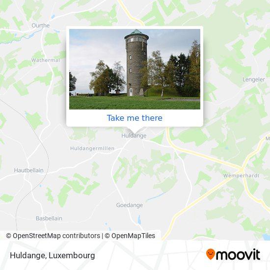 Huldange map