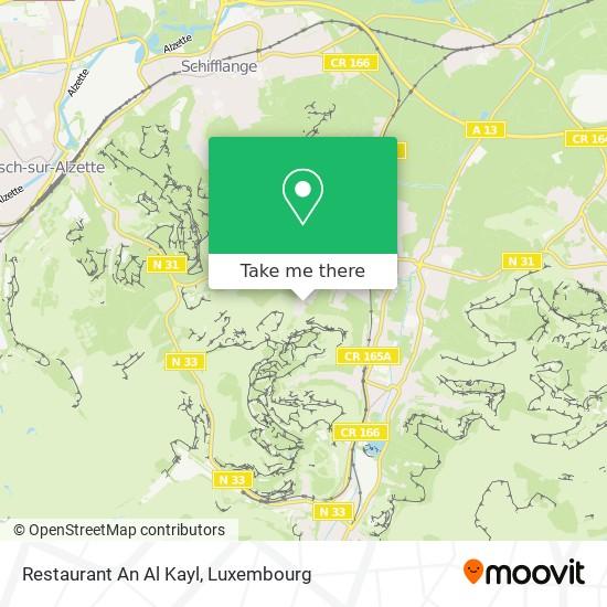 Restaurant An Al Kayl map
