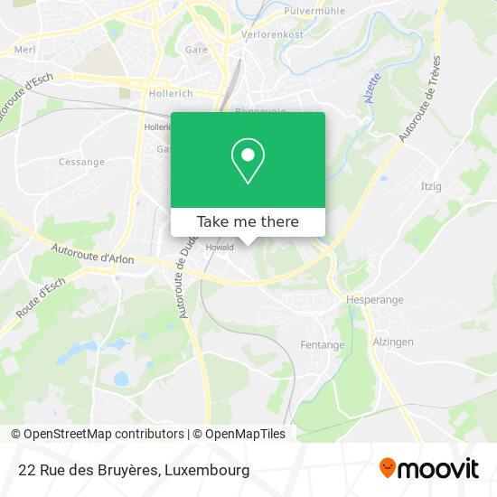 22 Rue des Bruyères map