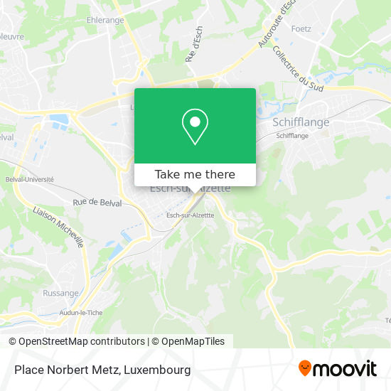 Place Norbert Metz map