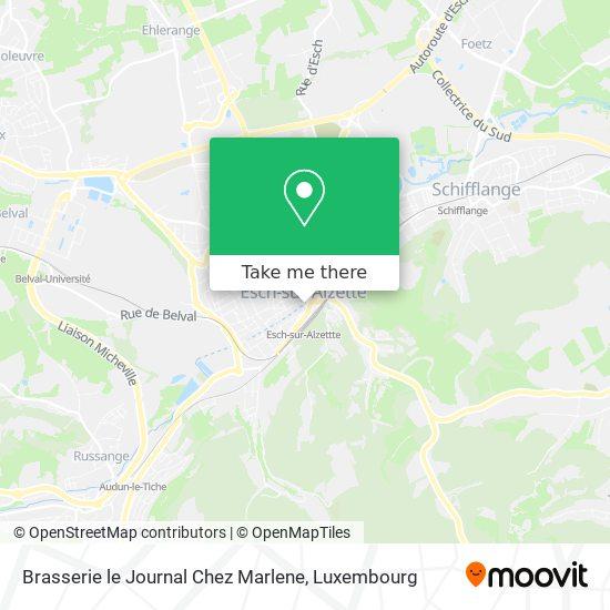 Brasserie le Journal Chez Marlene, 3, Rue de l'Alzette 4011 Esch-sur-Alzette map