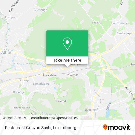 Restaurant Gouvou Sushi, 23, Route de Longwy 4750 Pétange map