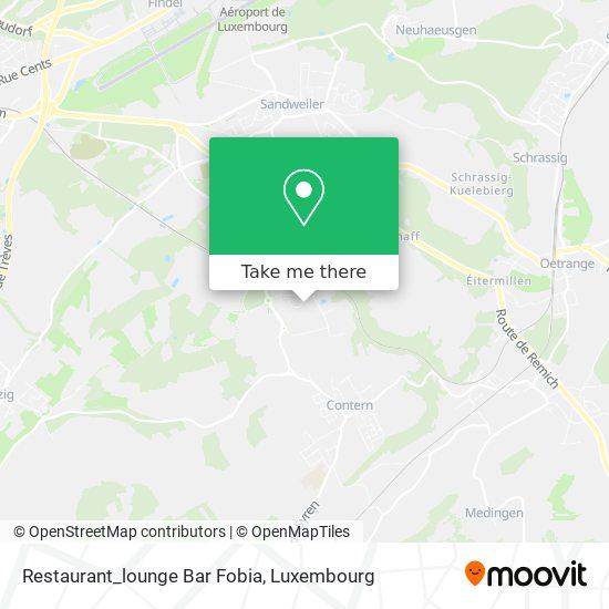 Restaurant_lounge Bar Fobia, 8, Rue de l'Étang 5326 Contern map